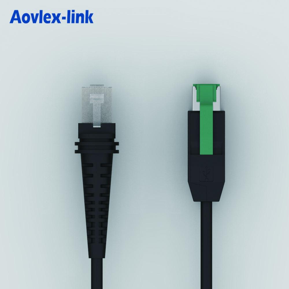 12V <span class=keywords><strong>Usb</strong></span> Được Hỗ Trợ Để RJ45 10P10C Cable Cho Motorola Symbol Máy Quét