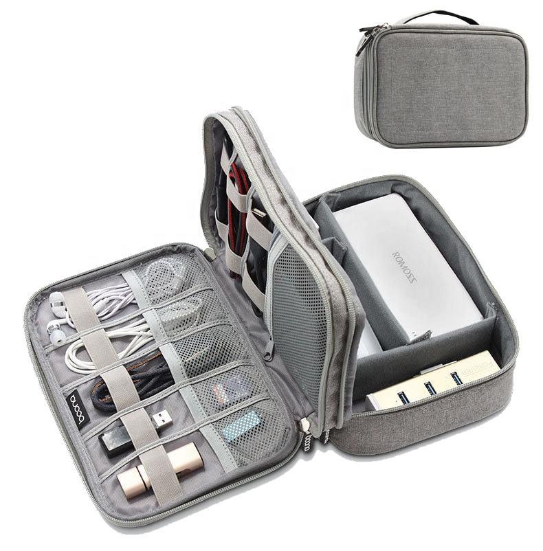 <span class=keywords><strong>Voyage</strong></span> Portable Électronique Accessoires Sac Organisateur De Câble De Données <span class=keywords><strong>USB</strong></span> Écouteur Chargeur Kit