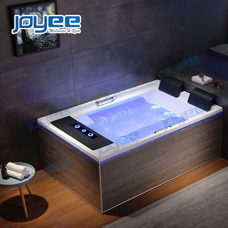 JOYEE New Material Canton Fair product whirlpool massage vasca idromassaggio indoor jakuzy spa bath 2 person hot tub