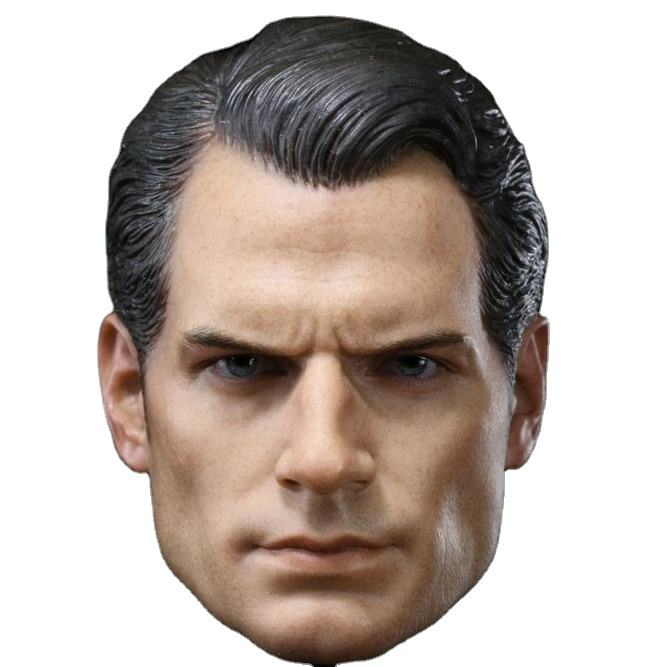 Custom 1/6 Scale Henry Cavill Super Hero Head Sculpt For Hot Toys Body
