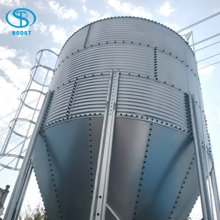 Factory Price 275g Hot dip galvanizing 5 ton Cow Grain feed corn Storage silos prices