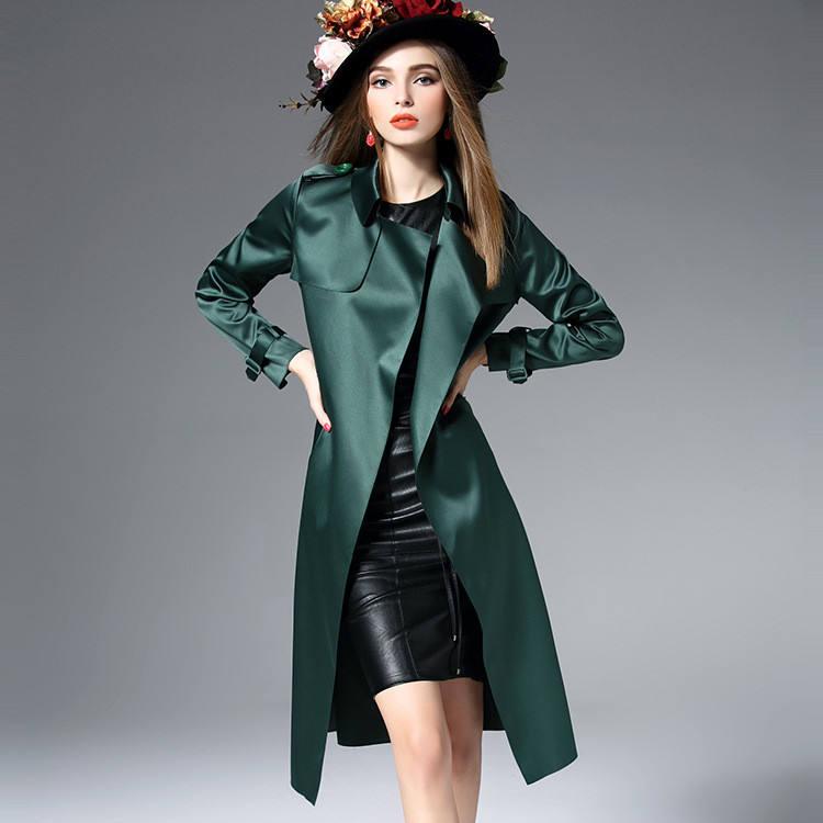 YQ90 das Mulheres nova cor sólida laço longo casaco de manga comprida solta