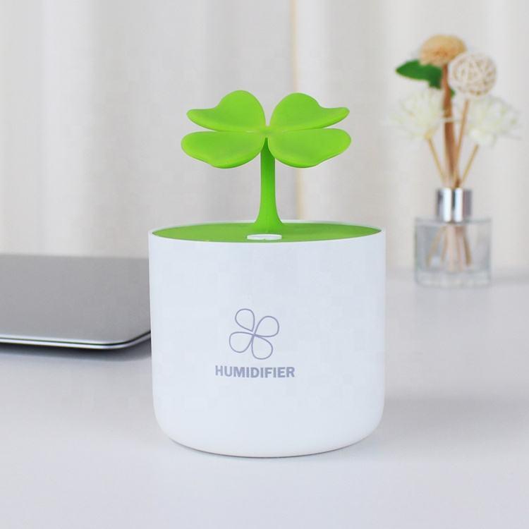 충전식 가습기 네 잎 럭키 아로마 디퓨저