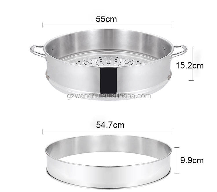 Hot Sale Cookware Porridge Noodle Soup 41cm food grade 304 Stainless Steel Soup Pot for kitchen