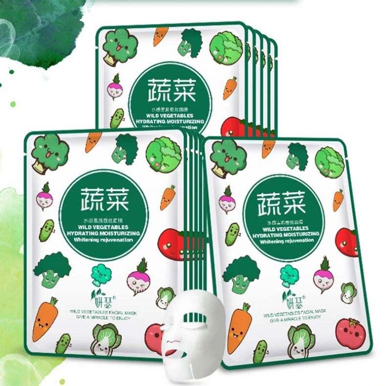 28ml cura della pelle del viso selvaggio verdura nutrire maschera foglio per <span class=keywords><strong>idratante</strong></span> sbiancamento e la cura della pelle