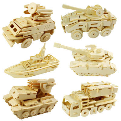 Tank Woodworking Building Blocks Kit for Kids and Adults with Educational DIY Carpentry Construction Wood Model Kit Toy