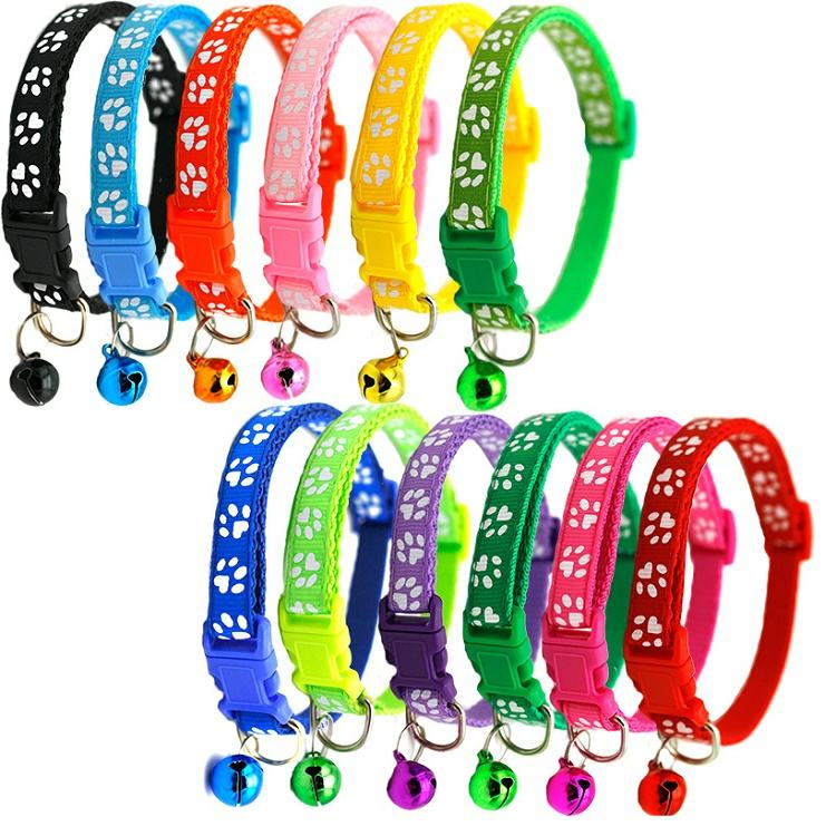 Wholesale Manufacturer Adjustable Soft High Quality Nylon Luxury Custom Pet Dog Collar For Dog With Bell Dog Collar