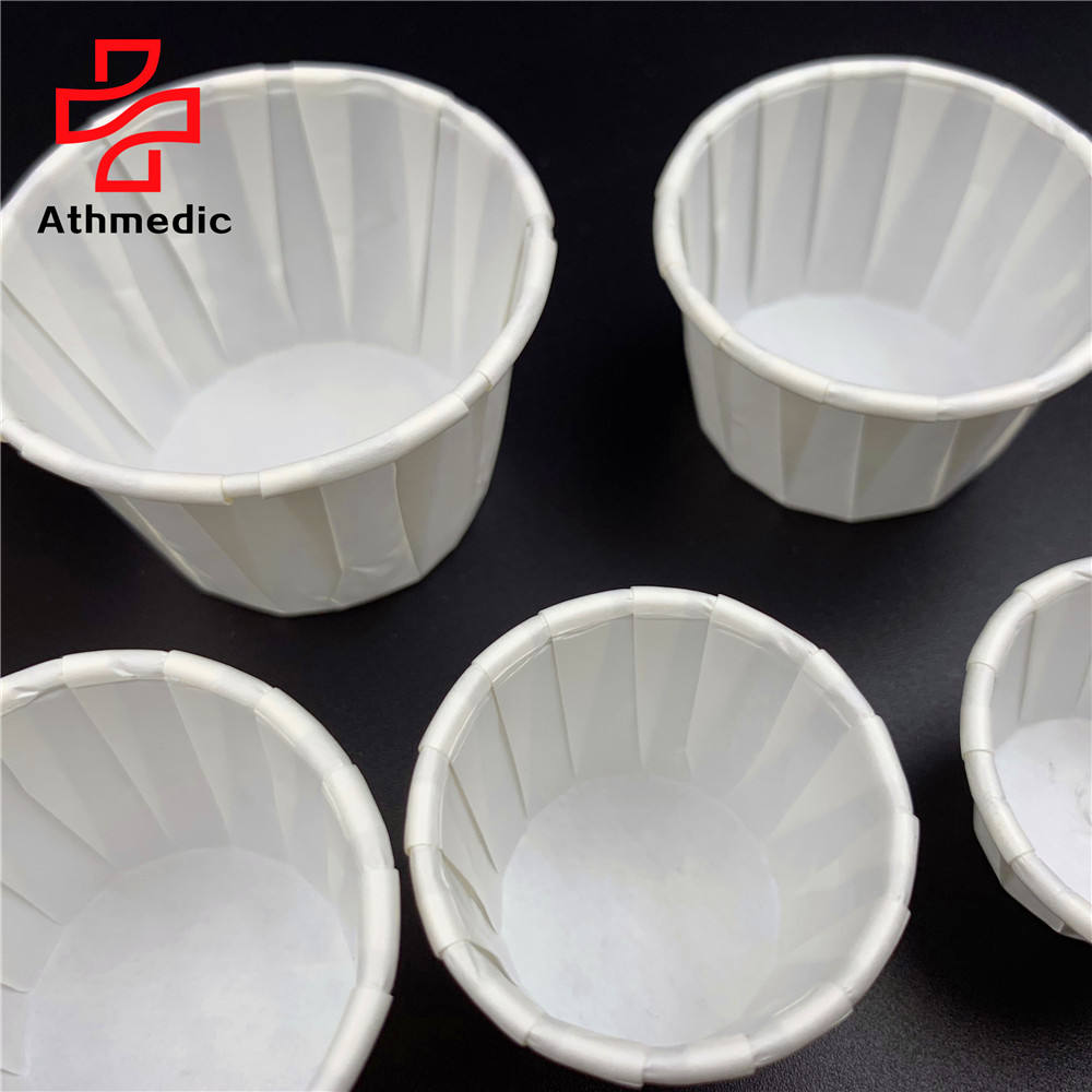 2021 Athmedic Biodegradable Squat Condiment Treated paper pill tablet drug medicine Jello Shots Souffle protion cup