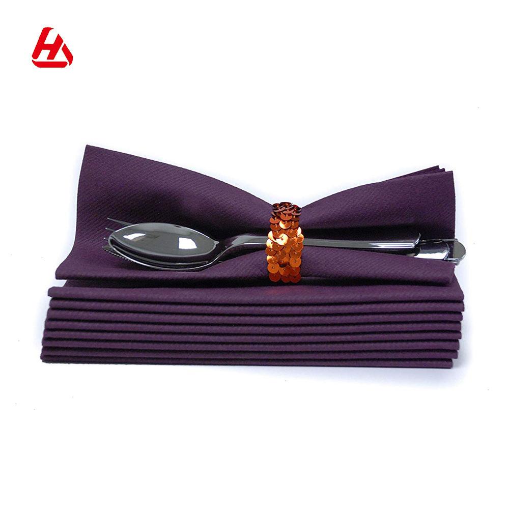 Offre Spéciale Top Qualité <span class=keywords><strong>Airlaid</strong></span> Tissu Violet Comme Papier Serviettes en Lin Comme Serviettes