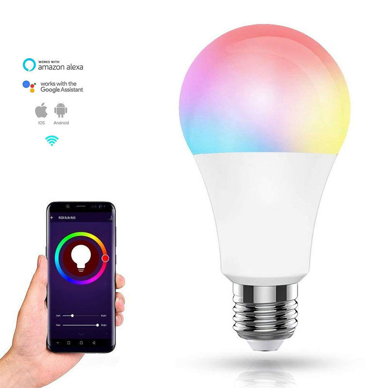 Tuya App Google Home Amazon Alexa 7W 9W Rgb <span class=keywords><strong>E27</strong></span> Dimbare Led Lamp Slimme Lamp
