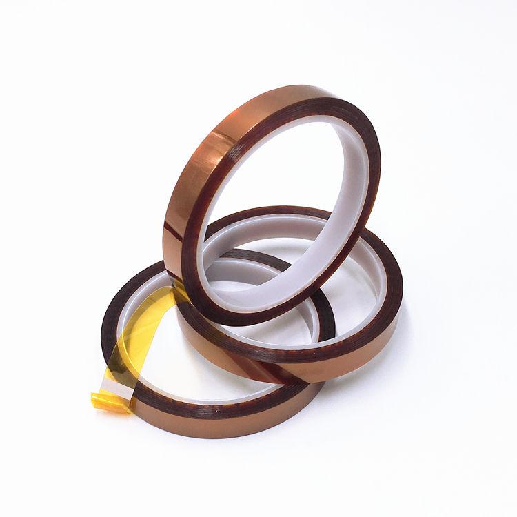 熱高耐熱接着剤、金電気タスクためポリイミドテープ <span class=keywords><strong>33</strong></span> メートル 12 ミリメートル