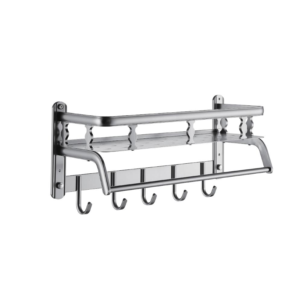 Multifunción de baño de aluminio de accesorios de secado para soportes de estantes