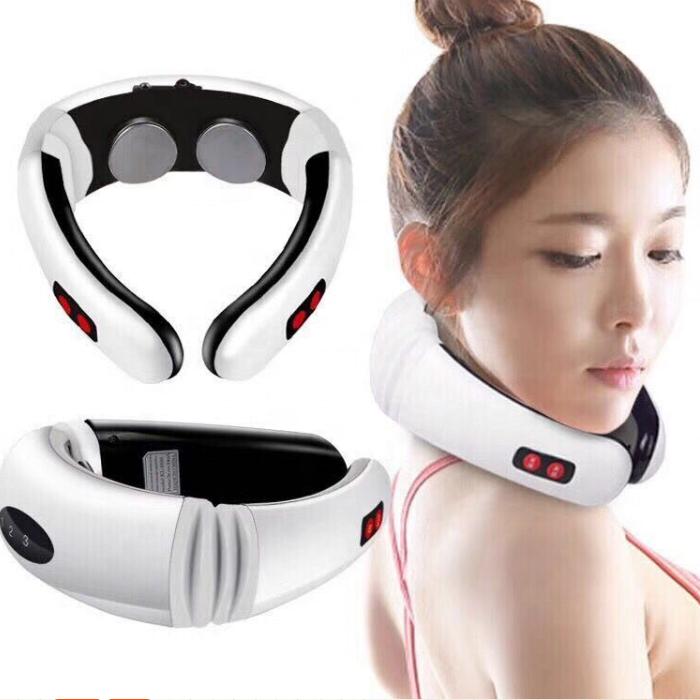 Venta caliente pulso terapia física amasar lejos inteligente de recarga masajeador para el cuello