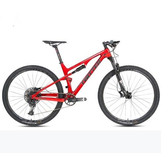 "mountainbike 27/29inch mountain bike 26"" carbon fiber soft tail old brake mountain bike adult off-road shock absorpt fibre cycle"