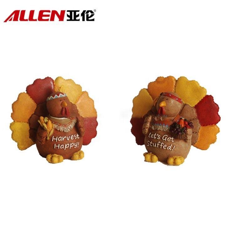 Творческий мультфильм пара стиль 5,1 дюймов смолы Турция фигурки животных оптовая продажа для благодарения Декор