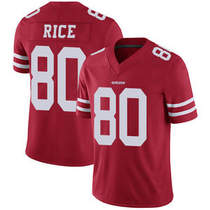 Jerry Rice 80 American Football Club Uniform Jersey Stitched Logo Mens Sports Shirt Wear Cheap Drop Shipping Wholesale