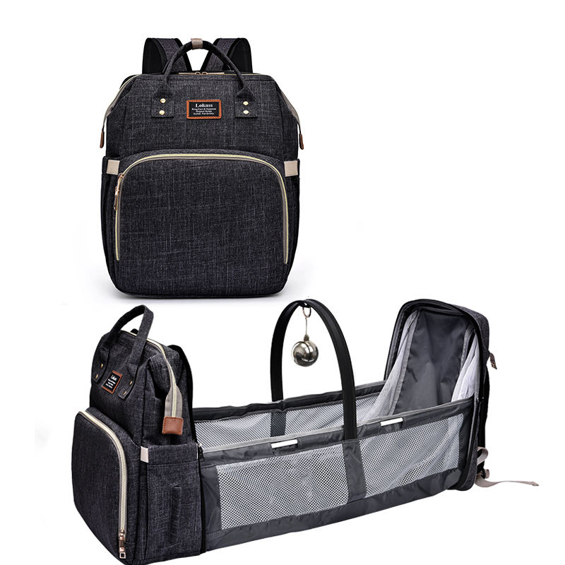 Venta al por mayor bolso mochila plegable cama de bebé con impermeable lavable Multi-funcional bebé cuna