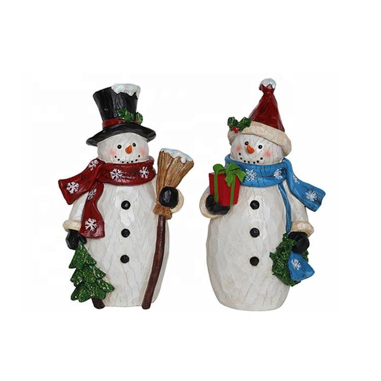Пользовательские desktop праздник подарок 12,6 дюймов Высота стоя поли смолы <span class=keywords><strong>Рождество</strong></span> <span class=keywords><strong>Снеговик</strong></span> Декор