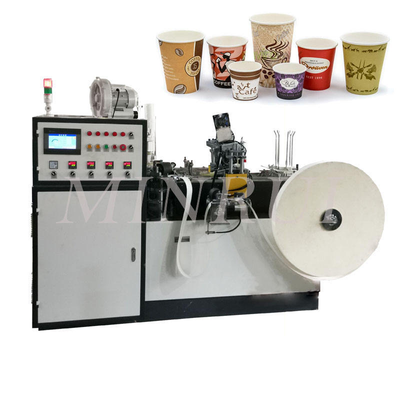 98mm glass kingwell vending paper bag cup plastic printing screen machine coffee cups fiber kating machines sealing ningbo