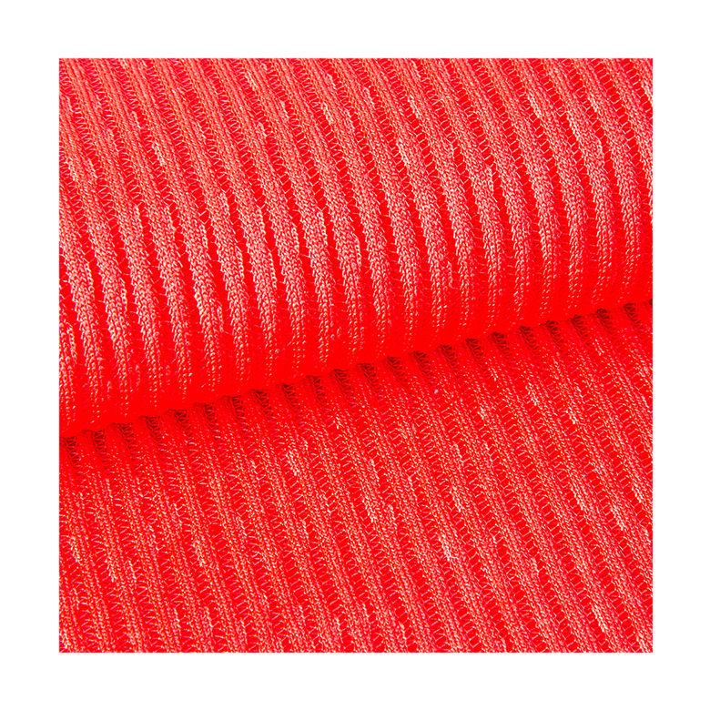 China fabricante de poliéster tingidos catiônica costela malha tubular tecido de malha <span class=keywords><strong>com</strong></span> certificado DO GV