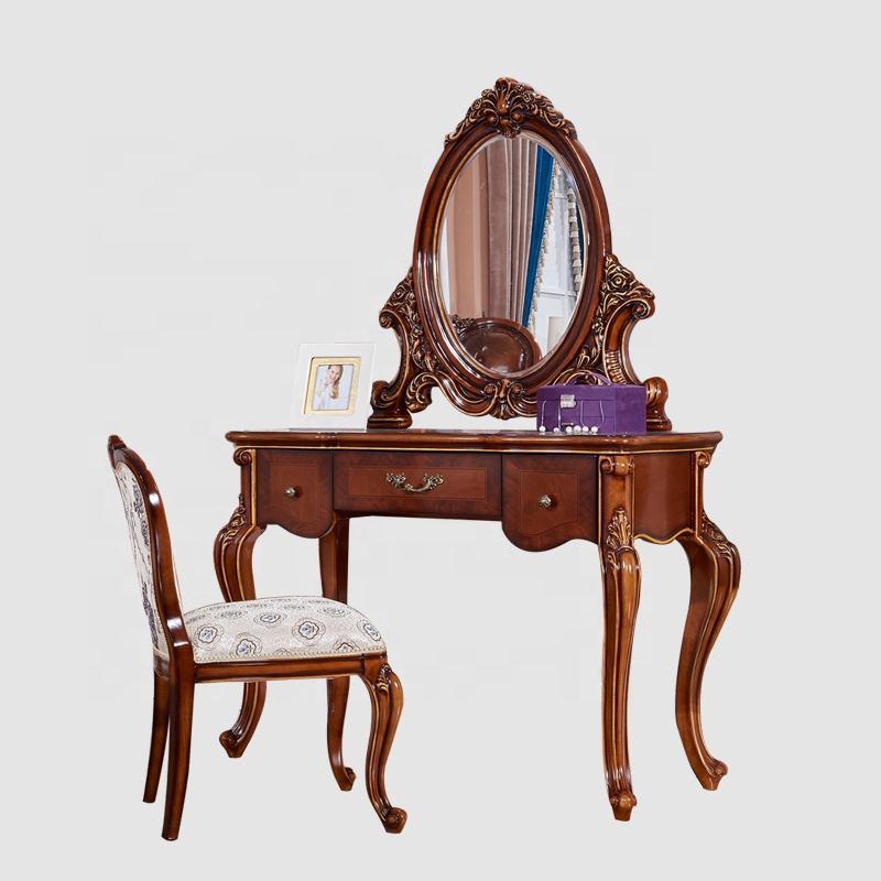 2020 Nova Vindo Luxo Real Do Vintage Francês Cadeira Cômoda De Madeira Projetos Do Espelho <span class=keywords><strong>Armários</strong></span>