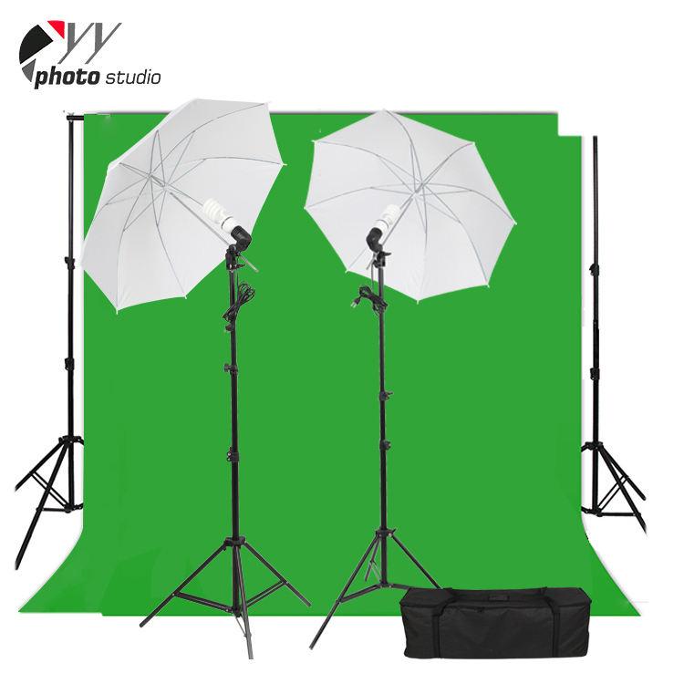 Фотографии Chromakey зеленый экран задний план фото фон свет стенд + зонтик лампа держатель интимные аксессуары комплект