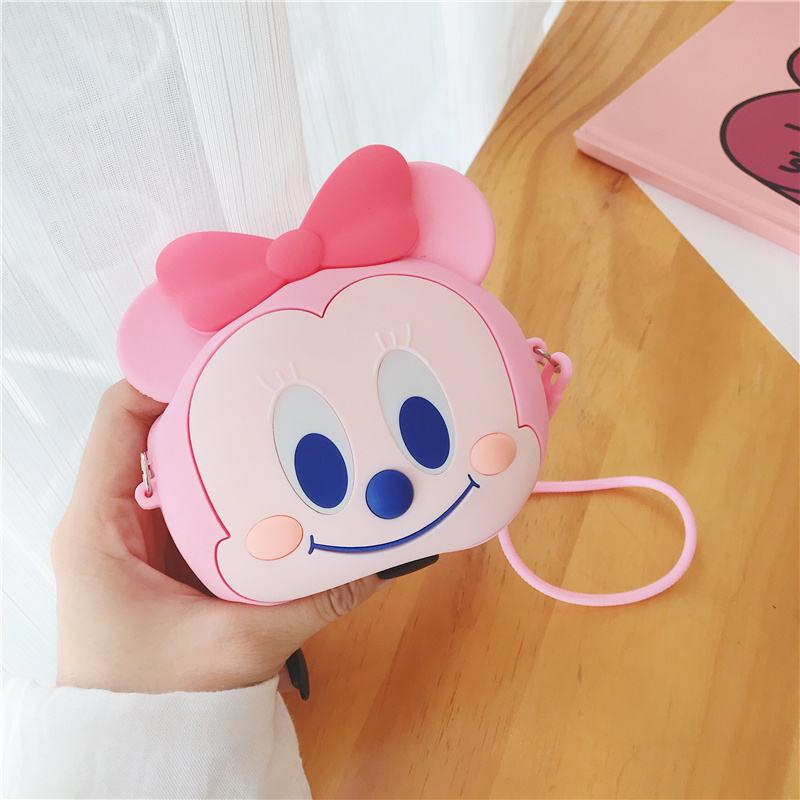 Girl Purse Zipper Waterproof Pouch Cute Pink Bow Design Silicone Kids Coin Purse  monederos de silicona