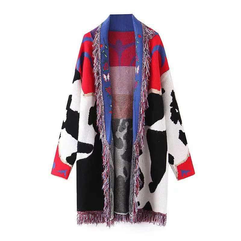 Тяжелый калибровочный свитер 2021, длинный кардиган, вязаные кардиганы для женщин, зимний свитер