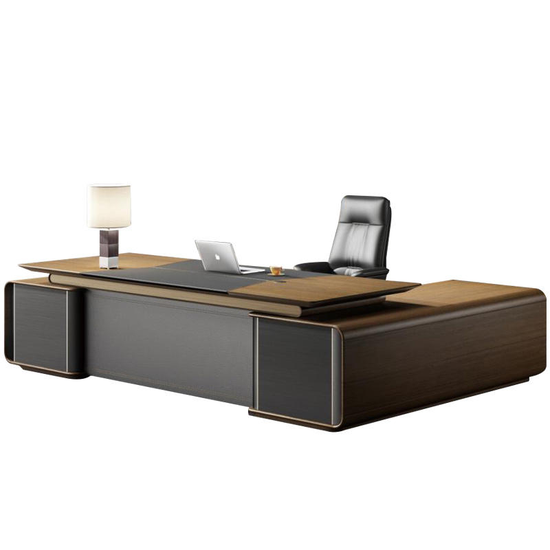 Modern Office Furniture design solid wood inner material director table with large storage manager desk computer table