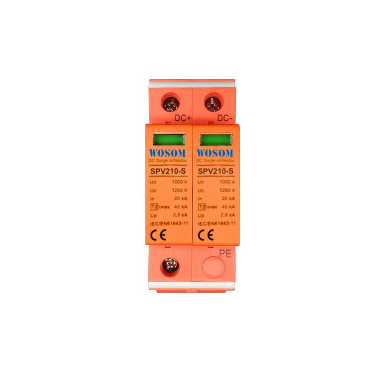 2 полюса 20kA/40kA 1000V устройство c/w Дистанционная сигнализация Тип 2 DC Защита от перенапряжения