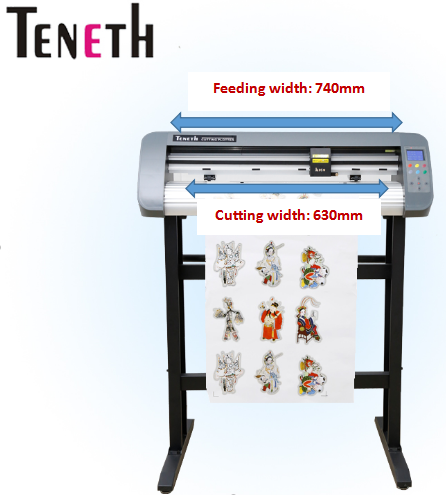 contour printing and cutting plotter. / teneth TH-740./vinyl cutter plotter machine.