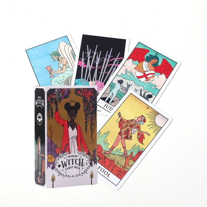 IN STOCK Tarot Cards The Modern Witch Tarot Deck Card 78PCS Full English With PFD Guidebook Indoor Family Kids Game Card Set