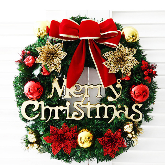 Wholesale Christmas tree wreath and Xmas Party garland colorful clear Decorations