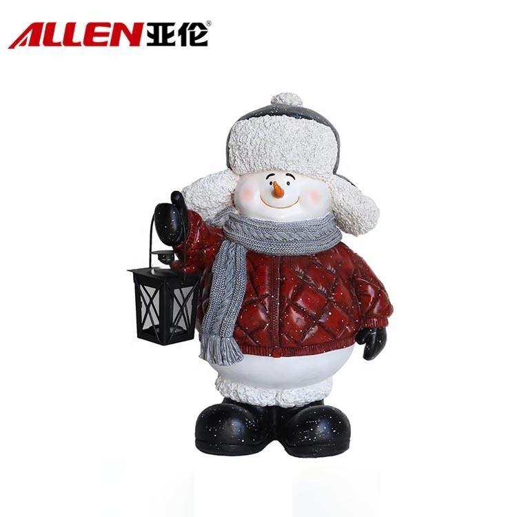 Творческий Холдинг фонарь дизайн ручной работы 19,7 дюймов Высота смолы <span class=keywords><strong>снеговик</strong></span> для рождественские украшения
