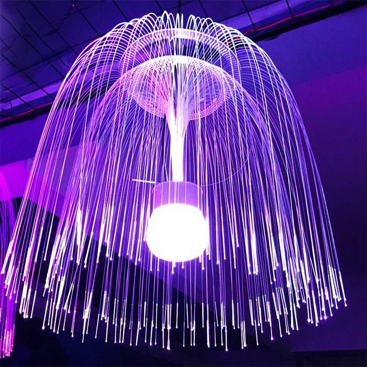 Кинц светодиодная Праздничная гирлянда с мигающим большим светом события Декор оптический освещение Медузы волокна