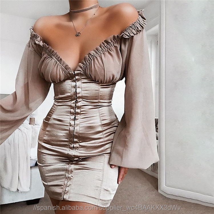Moda mujer ropa sexy bodycon mini v profunda apretado frente atado vestidos <span class=keywords><strong>de</strong></span> <span class=keywords><strong>fiesta</strong></span>
