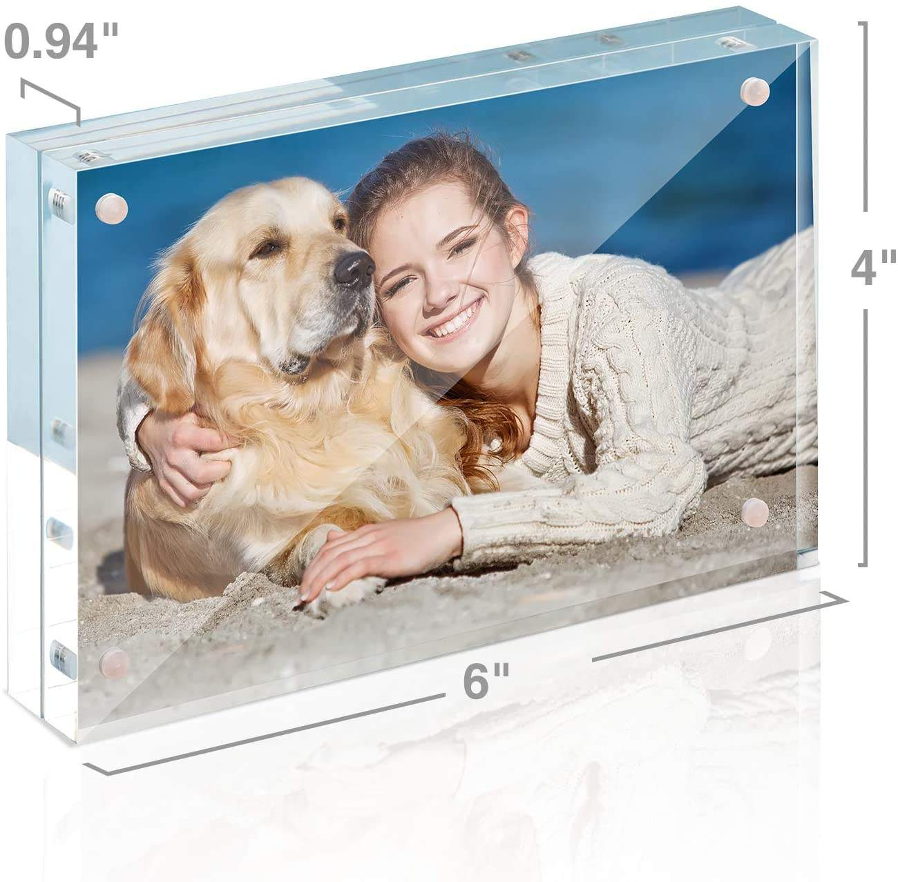 Acrylic Frames 4x6 Acrylic Picture Frame 12MM Thickness Clear Photo Frame