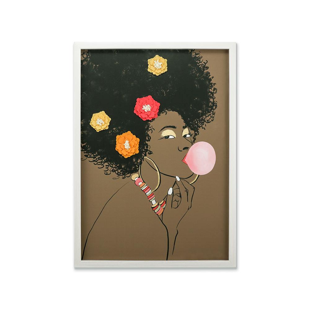Clásica mujer hermosa foto cuadros moderno enmarcado lienzo arte de la pared con marco