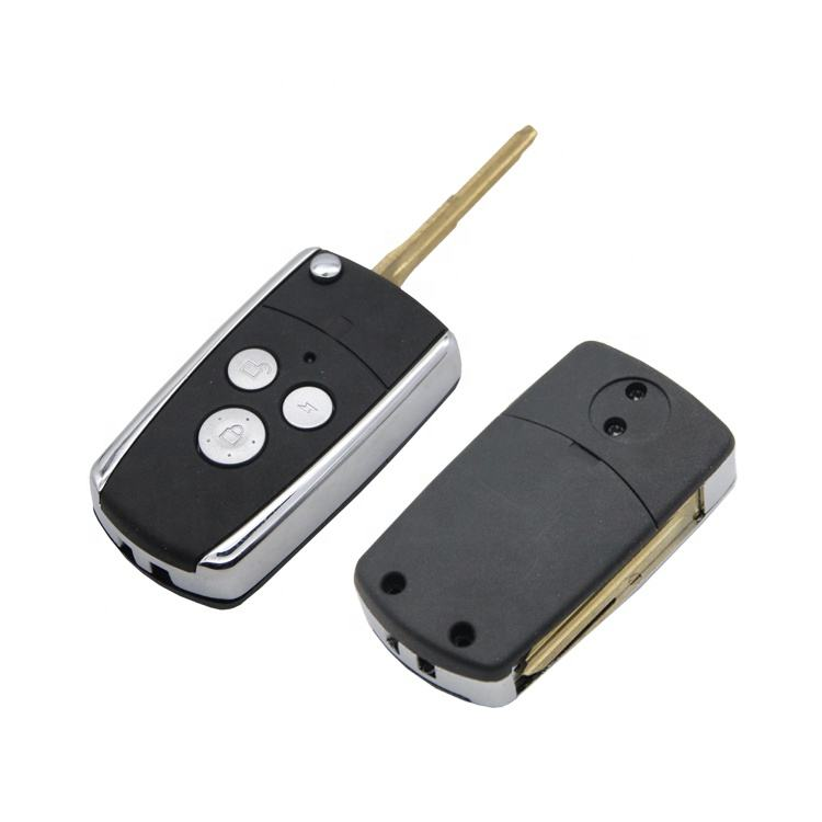 Hot Selling Hyund Car Key Replacement Shell Shiny Remote Case Car Key Brass Blank with 3 Buttons