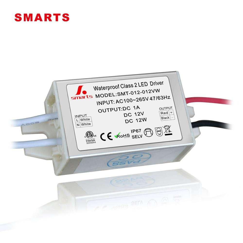 CE ETL ROHS перечислен 12 в Вт один выход Тип Водонепроницаемый мини светодиодный драйвер