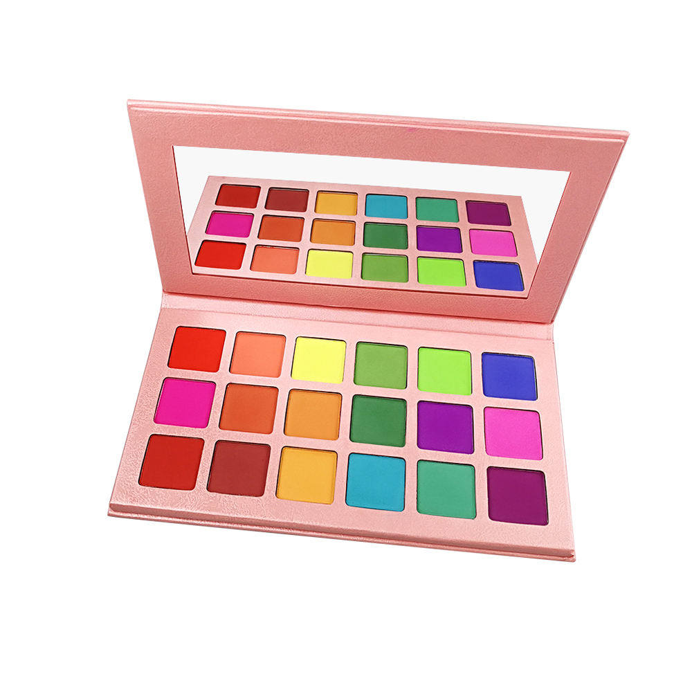 OEM rosa stern cosmetics18 farben matte lidschatten-palette angepasst lidschatten box
