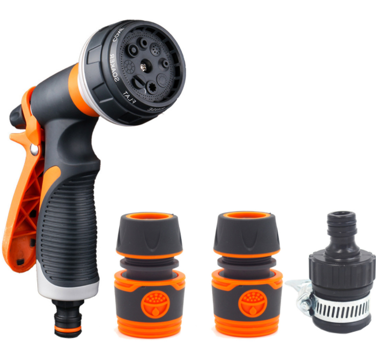 High Water Pressure 8 Multi Function garden Hose Nozzle Hose Spray Nozzle Garden Hose water Spray Gun