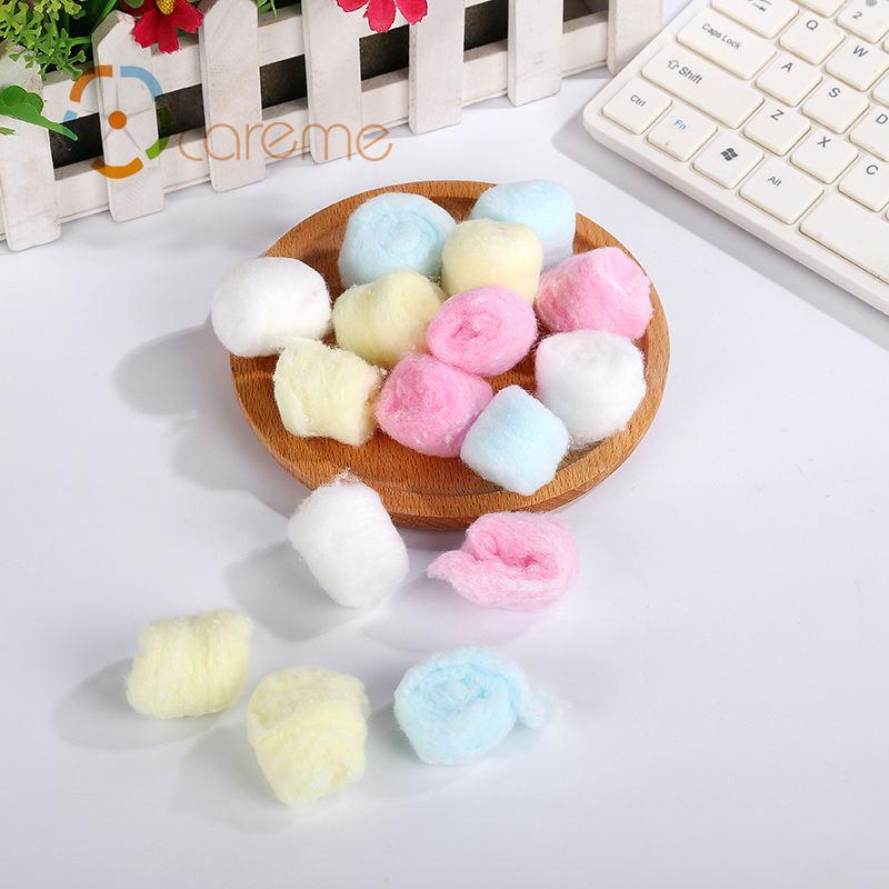 Absorbente desechable Médica Dental sintético lana de colores bola de algodón
