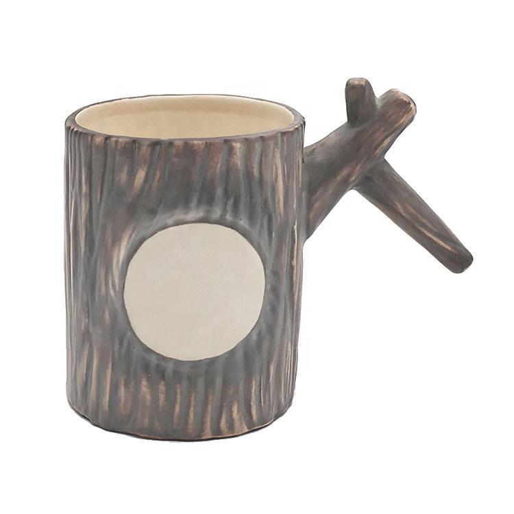 Magasin à un Dollar En Vrac Faite sur commande de Forme de Tronc Tasse En Céramique