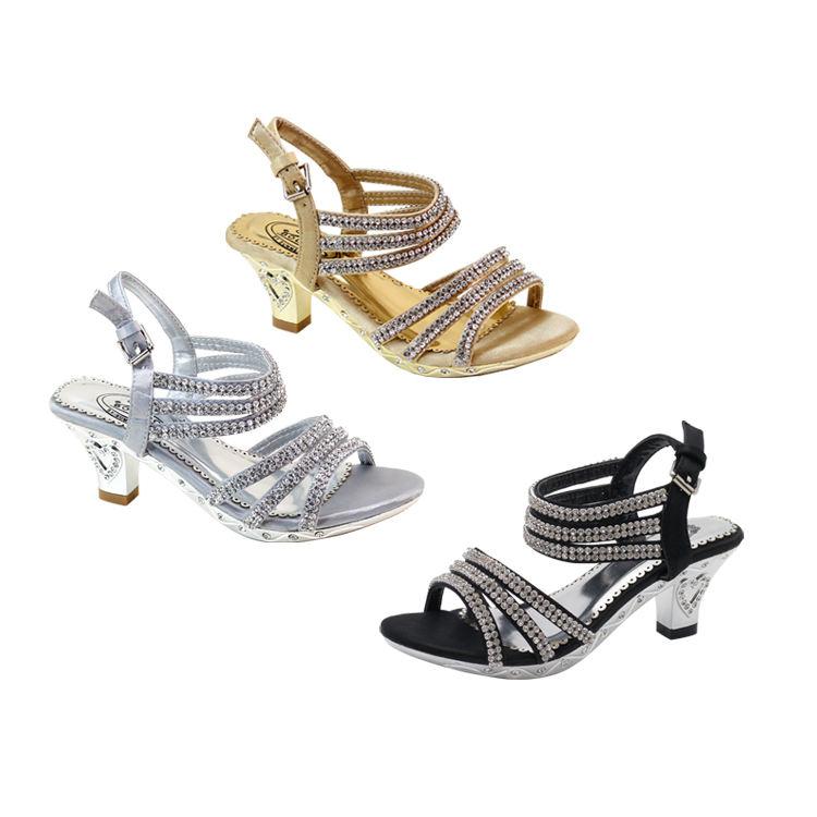 US Stock ATALINA BY SUMMER RIO 2021 Girls Sandals Little Children's Sandal Big Girls Princess Heeled Sandals Shoes for Kids