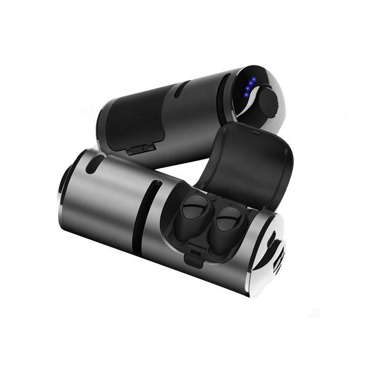 наушники обеспечивают защиту от 3 в 1 Bluetooth беспроводные наушники-вкладыши с 1200 мАч порт для зарядки через корпус