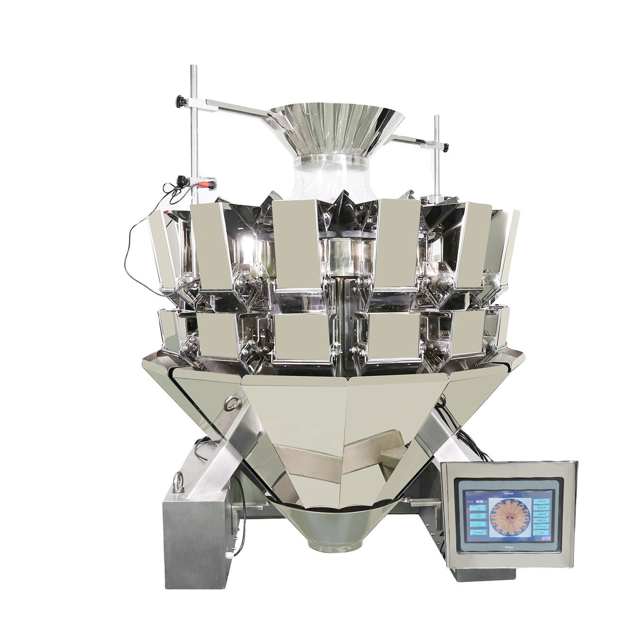 standard 14 head weighing multihead weigher for snacks seeds nuts fish hardware frozen food granule tablet and tea leaves