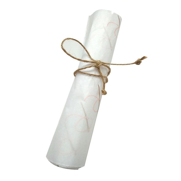 Personnalisé Imprimé Coton Lin Éco Personnalisé D'impression De Papier De Soie Avec Filigrane