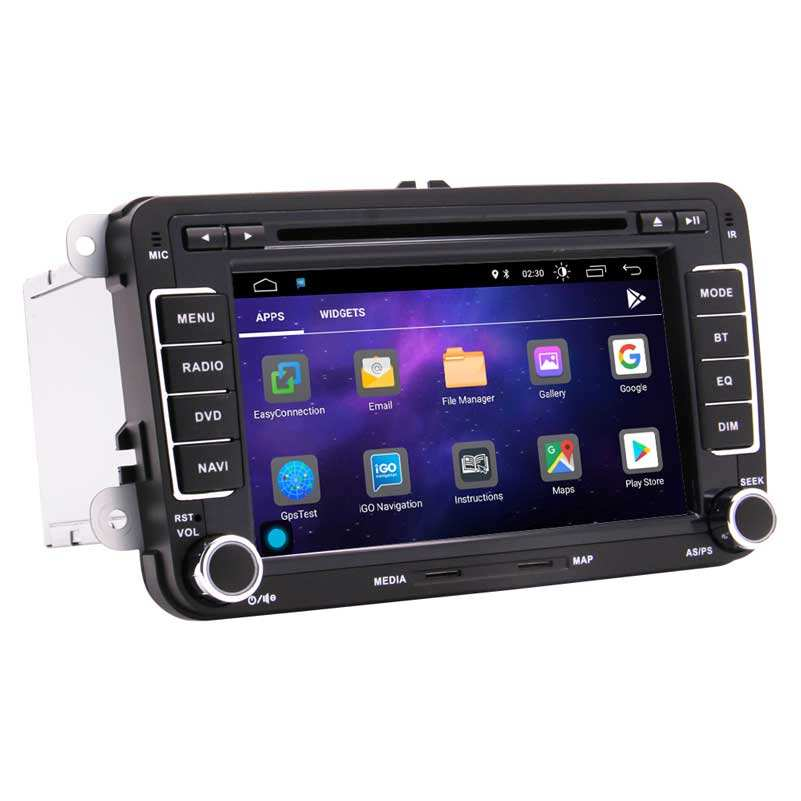 Android 10,0 reproductor de DVD del coche doble Din 7 pulgadas para VW Amarok Beetle Polo Golf con GPS WIFI Bluetooth soporte FM