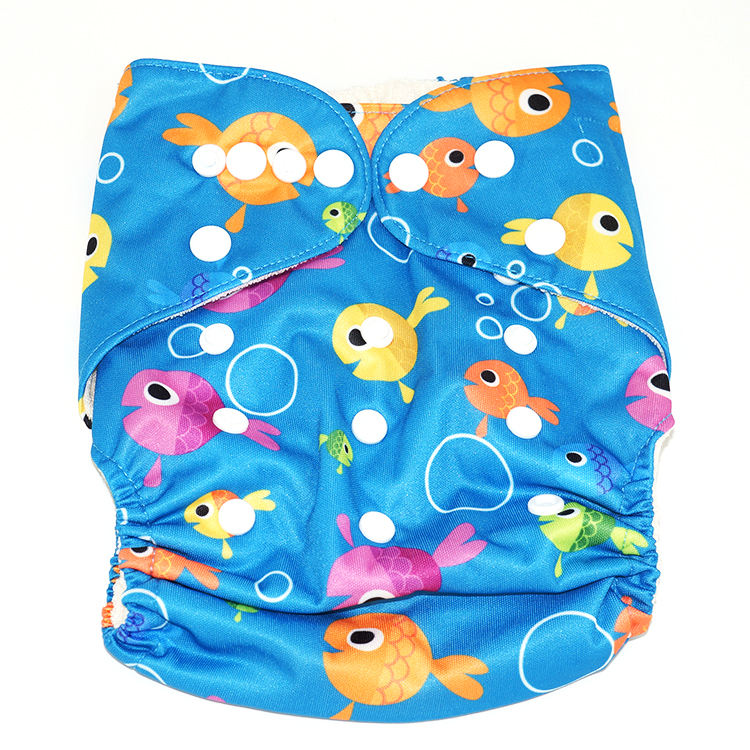 High Quality Bamboo Fiber Kids Nappy Washable Reusable Baby Cloth Diaper